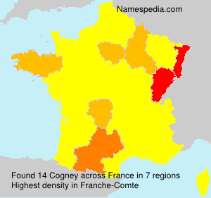 Surname Cogney in France