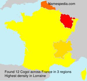 Familiennamen Cogoi - France