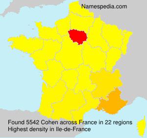 Familiennamen Cohen - France