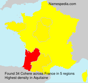Surname Cohere in France