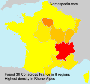 Surname Coi in France
