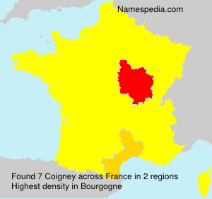 Surname Coigney in France