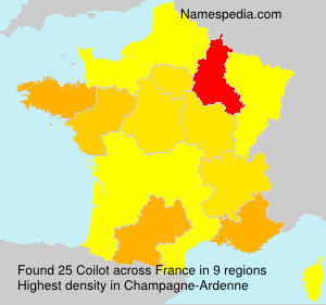 Surname Coilot in France