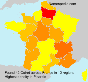 Surname Coiret in France