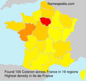 Surname Coisnon in France