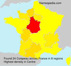 Surname Coispeau in France
