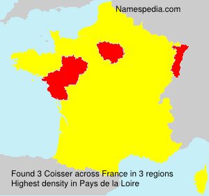 Surname Coisser in France