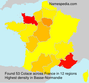 Surname Colace in France