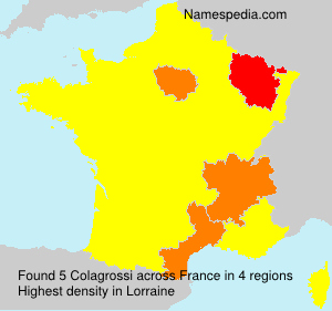 Surname Colagrossi in France
