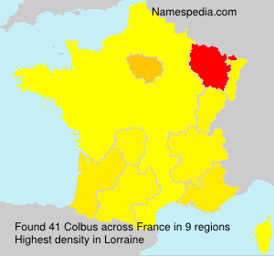 Surname Colbus in France