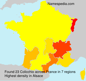 Surname Colicchio in France