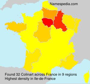 Familiennamen Colinart - France