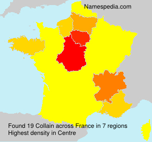 Surname Collain in France