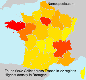 Surname Collet in France