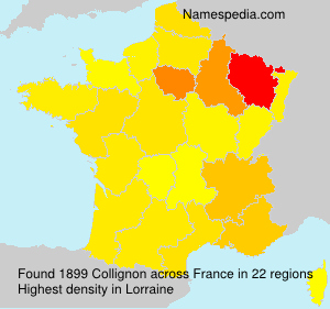 Surname Collignon in France