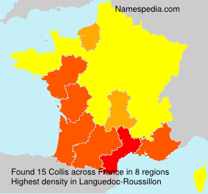 Surname Collis in France