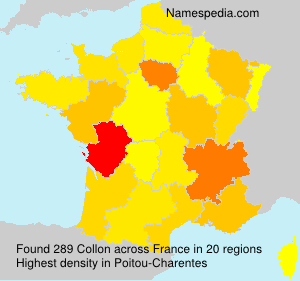 Surname Collon in France