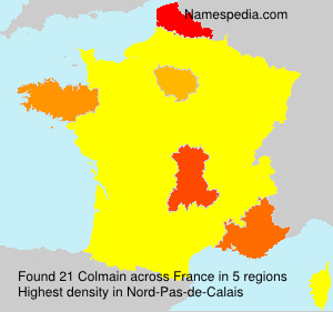 Surname Colmain in France