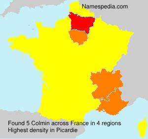 Surname Colmin in France