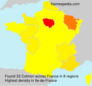 Surname Colmon in France