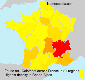 Surname Colombet in France