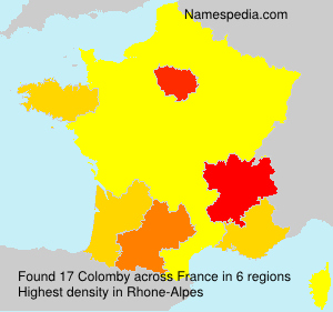 Surname Colomby in France