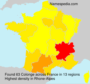 Surname Colonge in France