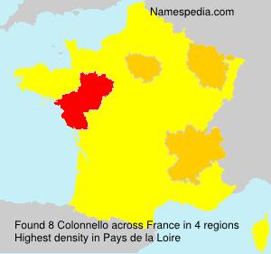 Surname Colonnello in France
