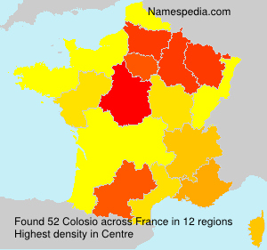 Surname Colosio in France