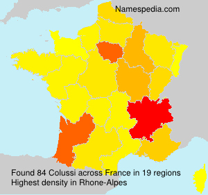 Surname Colussi in France