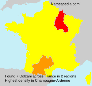 Surname Colzani in France