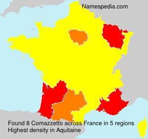 Familiennamen Comazzetto - France
