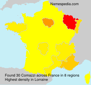 Surname Comazzi in France