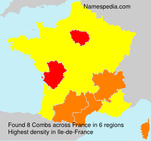 Surname Combs in France