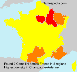 Surname Comellini in France