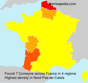 Surname Comeyne in France