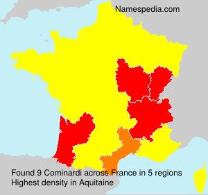 Familiennamen Cominardi - France