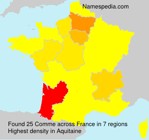 Surname Comme in France