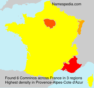 Surname Comninos in France