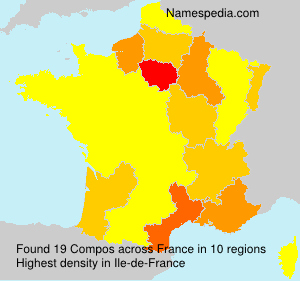 Surname Compos in France
