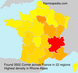 Surname Comte in France