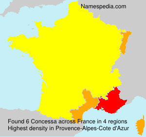 Surname Concessa in France