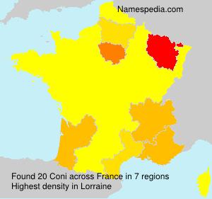 Surname Coni in France