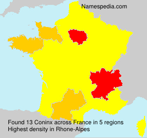 Surname Coninx in France