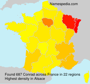 Surname Conrad in France