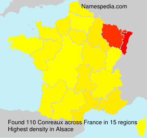 Surname Conreaux in France