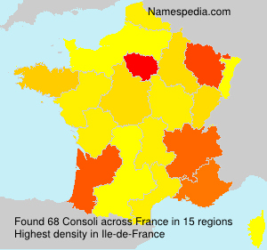 Surname Consoli in France