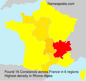 Surname Constancis in France