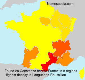 Surname Constanzo in France