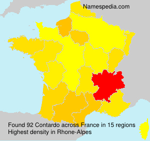 Surname Contardo in France